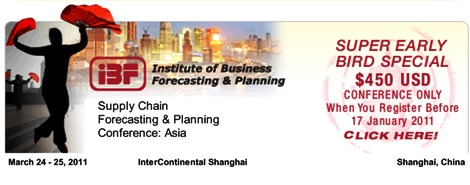 IBF's Supply Chain Forecasting &amp; Planning Conference: Asia