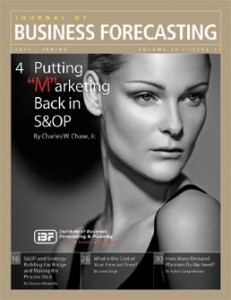 Putting Marketing Back in S&amp;OP: Journal of Business Forecasting
