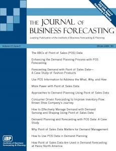 Journal of Business Forecasting Winter 08-09 Special Issue