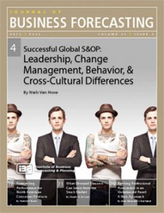 Journal of Business Forecasting Fall 2012